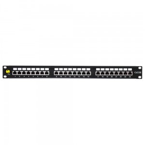"Patch panel NETRACK 24 1U 19"" Kat.5e FTP/STP 104-03"