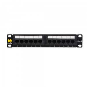"Patch panel NETRACK 12 1U 10"" Kat.6 UTP 104-16"