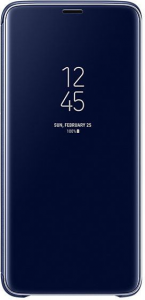 Clear View Standing cover S9+ Niebieski