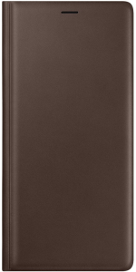 Etui Leather View Cover Note 9 brązowe