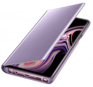 Etui Clear View Standing cover Note 9 lawendowe